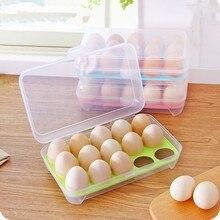 Яйца ломкость-доказательство пластик 15 Сетки яйца ящик для хранения яиц в холодильнике Чехол Контейнер для хранения еды Яйцо Сепаратор