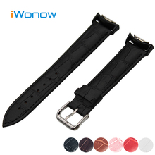 Genuine Leather Watch Band 20mm for Samsung Gear S2 SM R720 R730 Croco Grain Strap Wrist