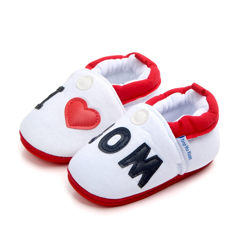 baby girl shoes Cotton Soft Sole Baby Shoes Lovely Heart-shaped Family Baby Boys Shoes