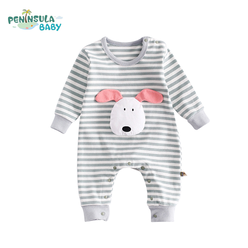 Baby Rompers Casual Baby Jumpsuit Long Sleeve Striped Clothing Newborn Fashion Clothing Kids Infant Striped Boys Girls Suit peninsula baby boy girl newborn baby rompers long sleeve baby clothing rompers for infant boys girls 2pcs bibs jumpsuit costume