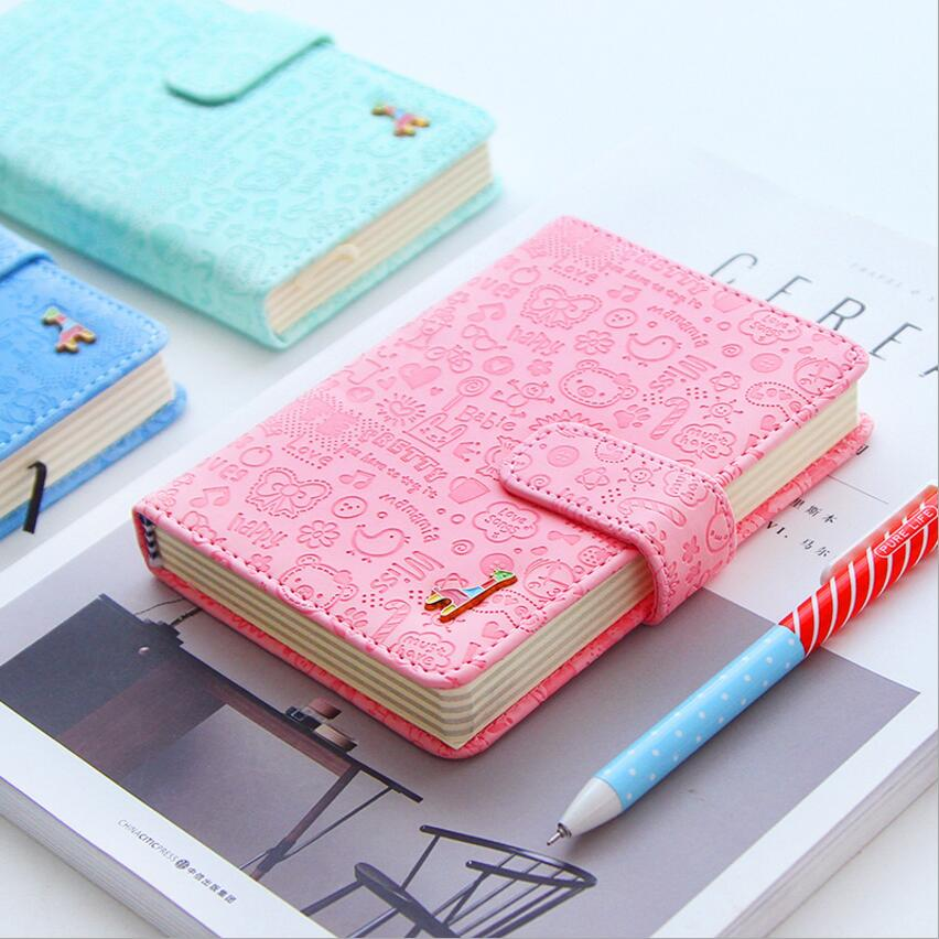Creative hollow leather spiral notebook,cute school agenda organizer/binder diary planner/travel journal filofax stationery creative leather ring binder a6 a5 notebook monthly weekly diara planner organizer agenda 2016 2017 cartoon school caderno