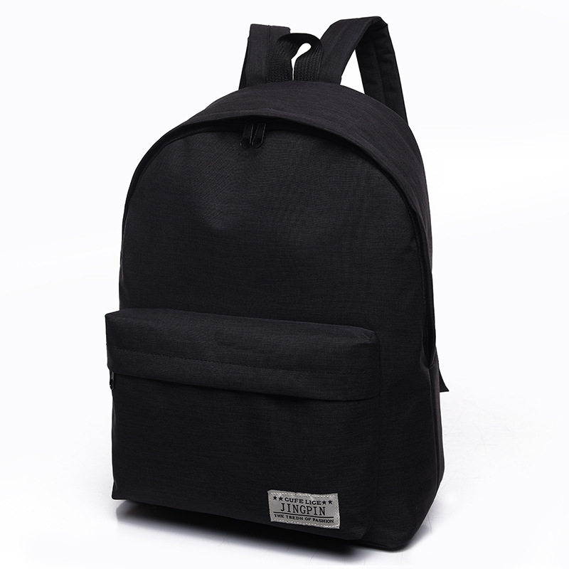 Men Male Canvas Black Backpack College Student School Backpack Bags for Teenagers Casual Rucksack Travel Daypack ZF10023(China)