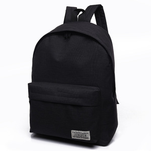 Men Male Canvas Black Backpack College Student School Backpack Bags for Teenagers Casual Rucksack Travel Daypack ZF10023