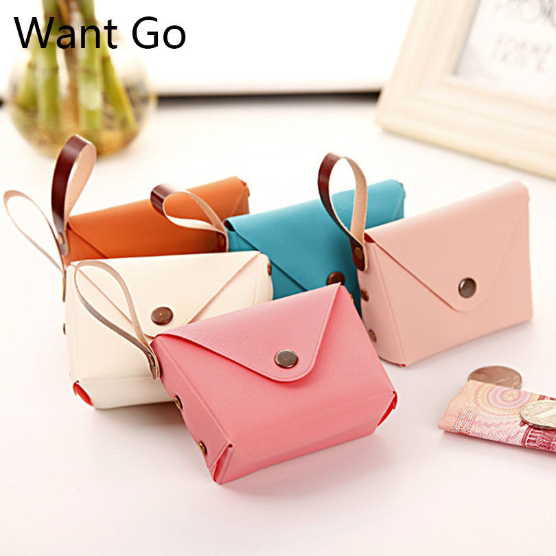Want Go Sweet Candy Color Womens Coin Purse Square Macaron Coin Bag Portable Mini Purse Girls Wallet Female Small Storage Bag