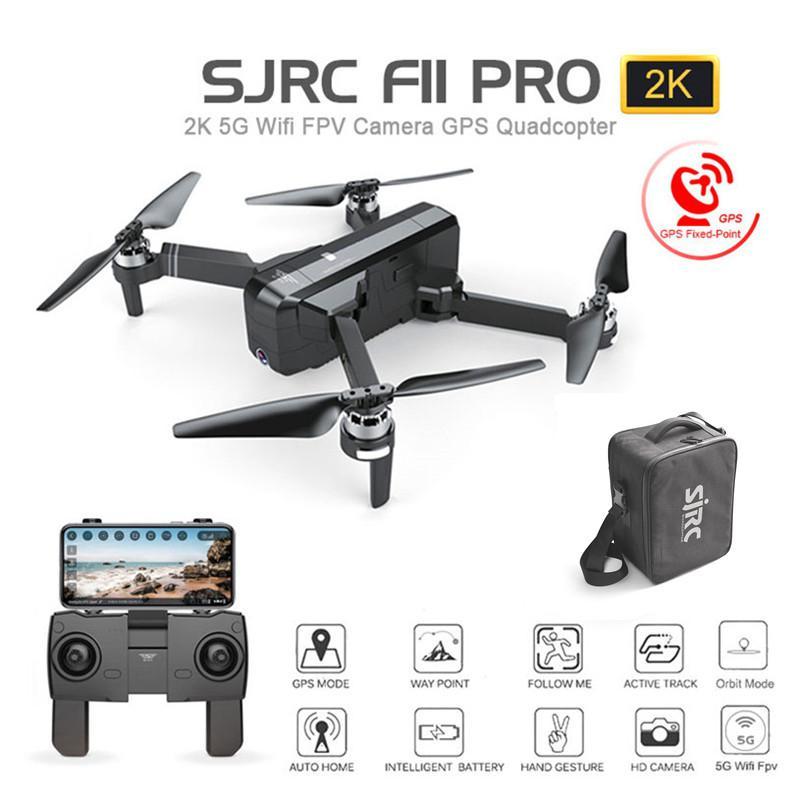 LeadingStar SJ RC F11 PRO 5G Wifi FPV gps бесщеточный Радиоуправляемый Дрон 2 K камера с сумкой для хранения