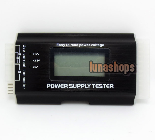 20/24 PIN PC LCD SATA Power Supply Voltage Tester for ATX BTX ITX HDD