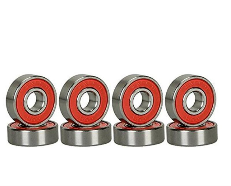 8 pcs Skater Generic Abec 9 Precision 608 RS Blank Skateboard Longboard bearings Deck Longboards ...