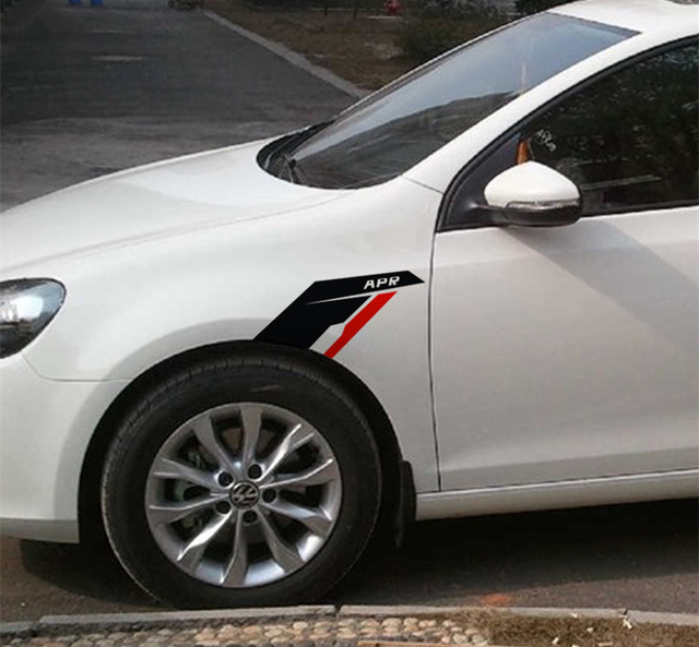 Apr sports car fender vinyl decoration sticker for audi volkswagen jetta golf gti body decal stickers