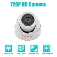 SunChan высокое качество AHD камера Цвет CMOS 1200TVL 24 ИК светодиодов Ночное Видение безопасности камера Внутренняя камера видеонаблюдения