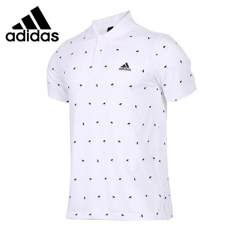 Original New Arrival  Adidas CUBE AOP Men's EXERCISE POLO Short Sleeve Sportswear
