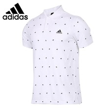 Original New Arrival Adidas CUBE AOP Men's EXERCISE POLO short sleeve Sportswear(China)