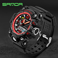 2016 New SANDA Men's Watch Men Waterproof Sports Digital Watches S-Shock Men's Analog Quartz-Watches Reloj Hombre Relogio clock