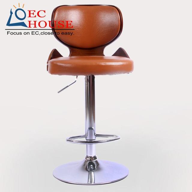 Высококачественный Европейский стиль деревянной спинкой CA подъема табурет барный стульчик перед кассир БЕСПЛАТНАЯ ДОСТАВКА