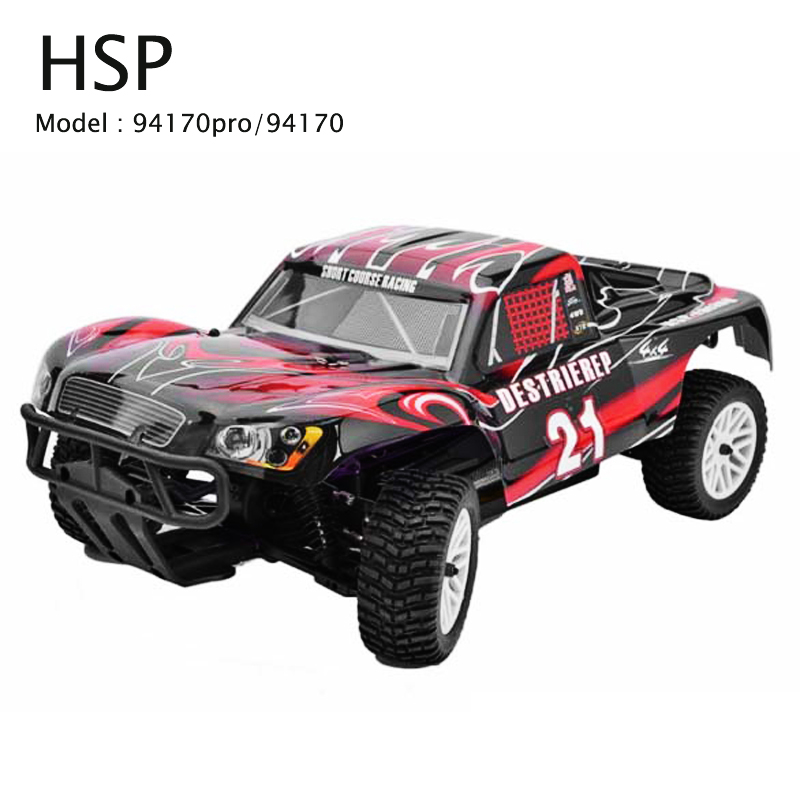 HSP 94170 / 94170PRO Rc Car 1/10 4wd Off Road Rally Truck Brushless Electric Power 2.4Ghz LIPO Battery Remote Control Car RTR 02023 clutch bell double gears 19t 24t for rc hsp 1 10th 4wd on road off road car truck silver