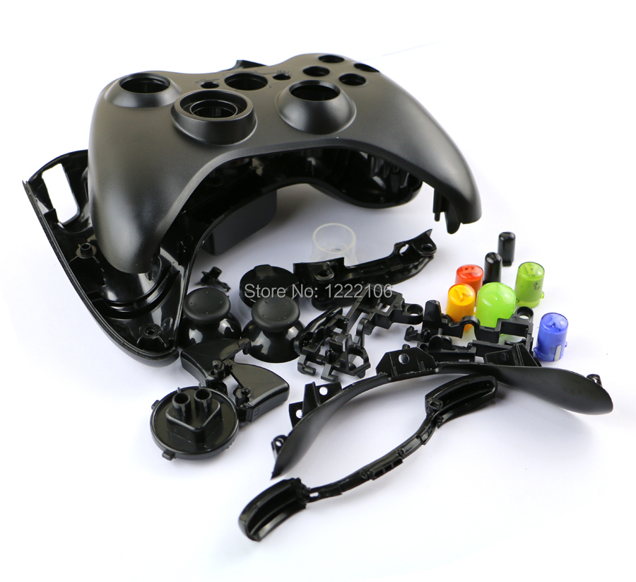 ChengChengDianWan For Xbox360 wireless controller housing shell cross  button whole housing cover case for Xbox 360 Joystick-in Replacement Parts  &