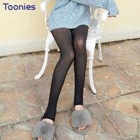 Kış Kadın Tayt Dikişsiz Külotlu Çorap Adım Ayak Çorap Elastik Ince Legging Sahte See Through Iç Çamaşırı Termal Sıcak Legging