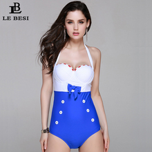 Summer New One-Pieces Swimsuit For Women Plus Size Swimwear Push Up Bathing Suit Sexy Monokini Vintage Beachwear