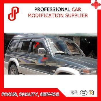 High Quality Injection molding trim vent shade rain sun wind deflector window visor for Pajero V31 V32 V33
