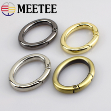4pcs Meetee 37*20mm Metal Oval Spring O D Ring Clasp Buckles for Bags Strap Belt Hardware Accessories DIY Leather Craft