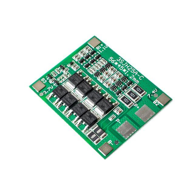 Neue 3S 25A Li-Ion Lithium-18650 BMS PCM batterie schutz bord bms pcm mit balance für li-ion lipo batterie zelle pack Modul