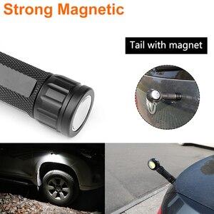 Image 2 - Led Zaklamp 360 Graden T6 + COB lantaarn 8000LM Waterdichte Magneet Mini Verlichting LED Zaklamp Outdoor gebruik 18650 of 26650 batterij
