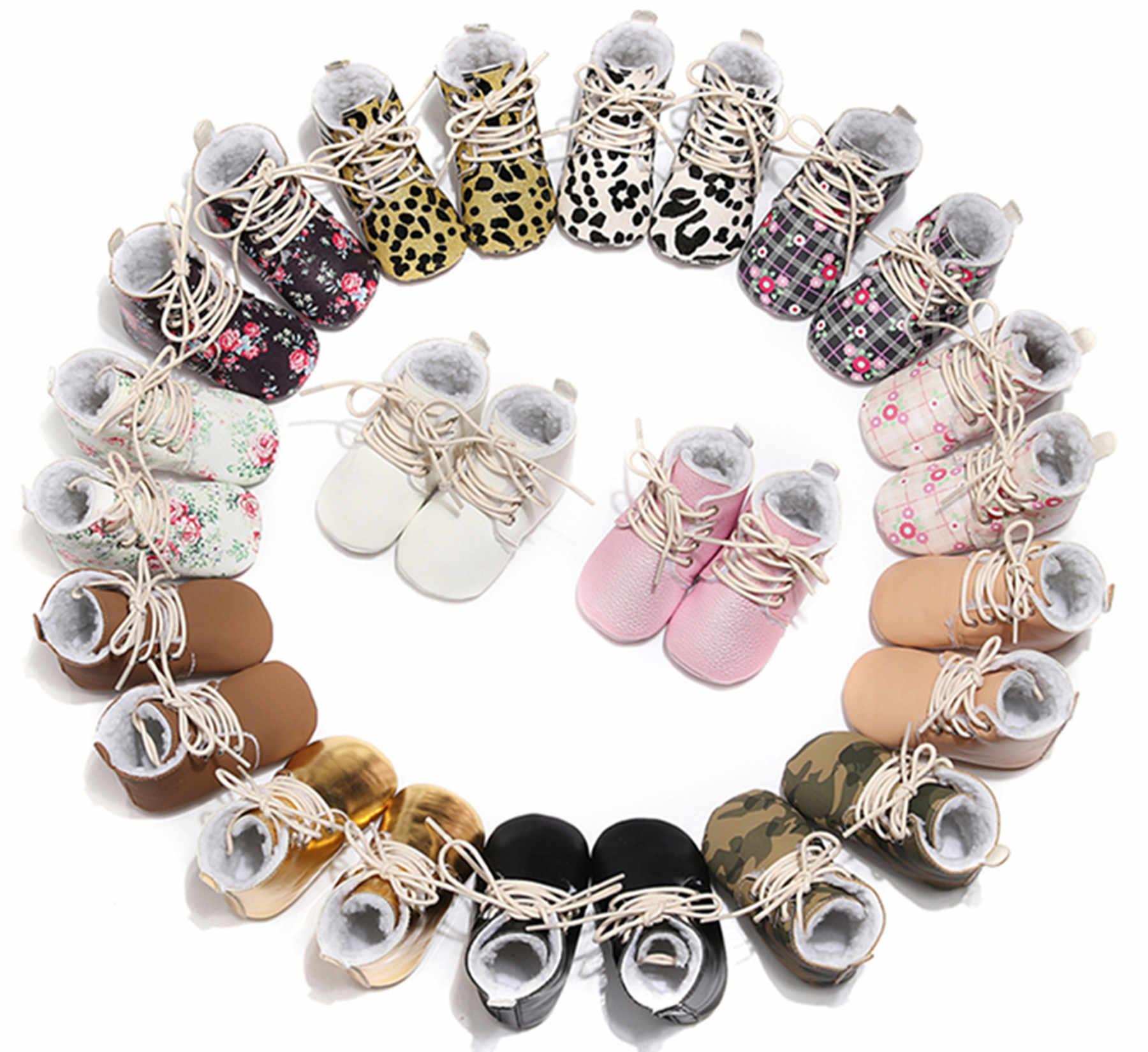2019 nuevo bebé niños invierno mocasines TPR suela Infantil Niño botas de nieve bebé niñas zapatos de invierno Zapatos bebé Bebe botines
