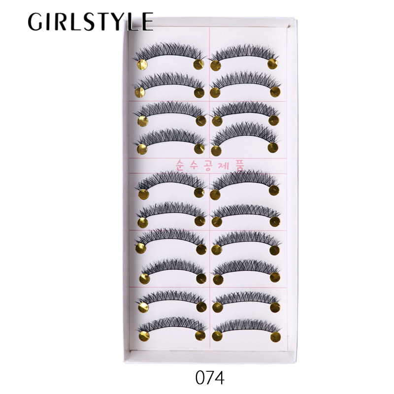 GIRLSTYLE Fresh Eyelashes Makeup Tool 10 Pairs/Sets Crisscross Extention Long Thick Full Strip Lashes Cosmetics Beauty Tool