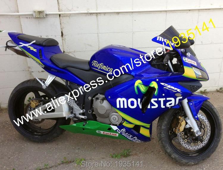 Vânzări fierbinți, pentru Honda CBR 600 RR 2003 2004 CBR600RR CBR600 600 RR 03 04 Blue Green Movistar Motocicletă Fairing (turnare prin injecție)