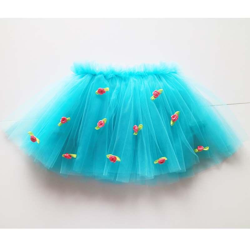 floral tutus girl tulle soft nylon tutu baby girl flower fashion holiday tutu skirts girl wholesale tutus skirts for kids