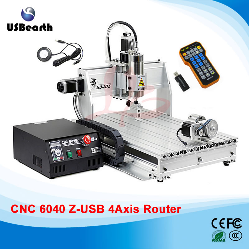 Free tax to RU CNC 6040Z-USB 4 axis mini CNC engraving machine with mach3 remote control milling lathe russia tax free 6040z usb 4 axis1 5kw hot usb cnc 6040 sculpture wood carving cnc router machine with mach3 remote control