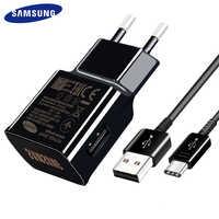 100% Original Samsung Galaxy S9 S8 plus USB chargeur Type C câble adaptateur rapide charge rapide voyage EU US UK Note8 Note7 C9 Pro