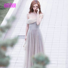 Fashion Silver plus Gold Evening Dresses Long 2018 Party Gown Asymmetrical  neckline Sequin Beach Zipper Formal Women Prom Dress a8d807a0ff09
