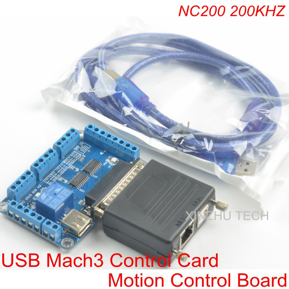 MACH3 USB Card NVEM 3 Controller 3/4/5/6 Axis CNC Motion Controller USB Card 200KHz Breakout Board Interface Stepper/Servo