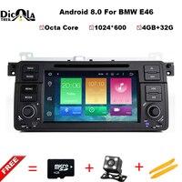 7 Android 8.0 in dash car 1 din car dvd player for bmw e46 318 /320/325/330/335/M3 gps navigaton autoradio audio bluetooth SWC