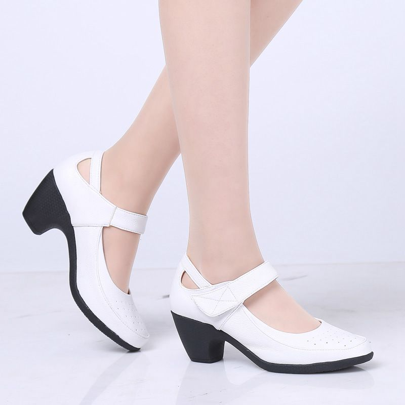 New High-heeled Waterproof Platform Shoes Women Thick With Dance Shoes Show Banquet Dance Shoes Ladies Three-step Step On The Ri