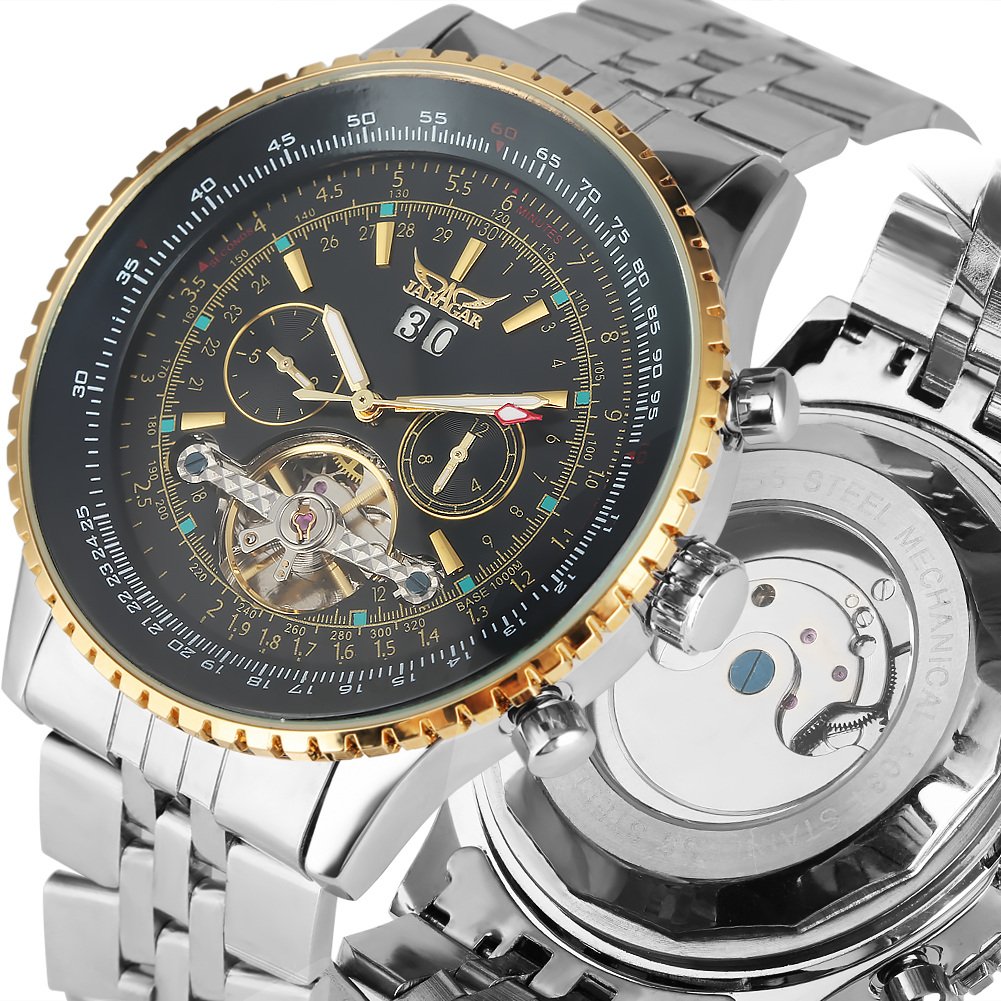 Stainless Steel Skeleton Mechanical Watch Exquisite Automatic-self-winding Mechanical Men Business Clock Top Brand Luxury Gifts