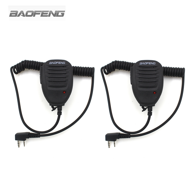 2-PCS Baofeng Microphone Speaker Mic For Two Way Radio Kenwood BAOFENG UV-5R 5RA 5RE Plus Walkie Talkie Portable Accessories