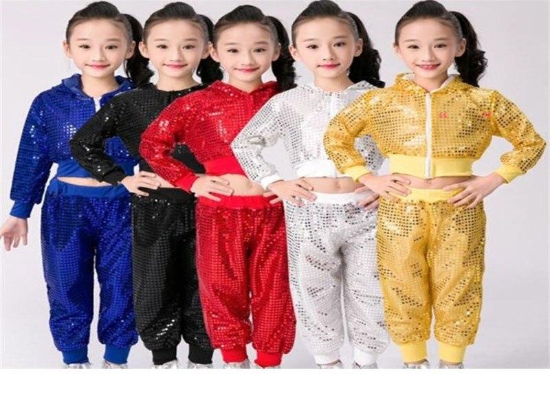 9610fefd8 SONGYUEXIA Children Dance Costume Jazz Wear New Style Sequin hip-hop ...