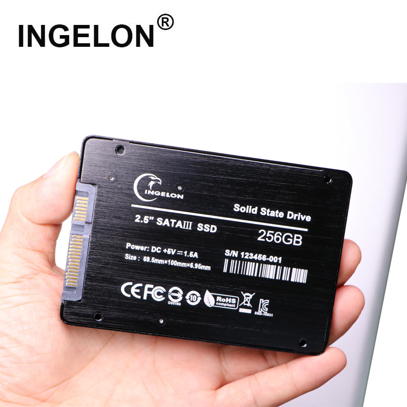 Ingelon <font><b>SSD</b></font> <font><b>120GB</b></font> 240GB 480GB Sata3 SLC PC HDD <font><b>2.5</b></font> inch Black Color With Sata USB Cable Adapter For Laptop Macbook Pro 2012/17 image