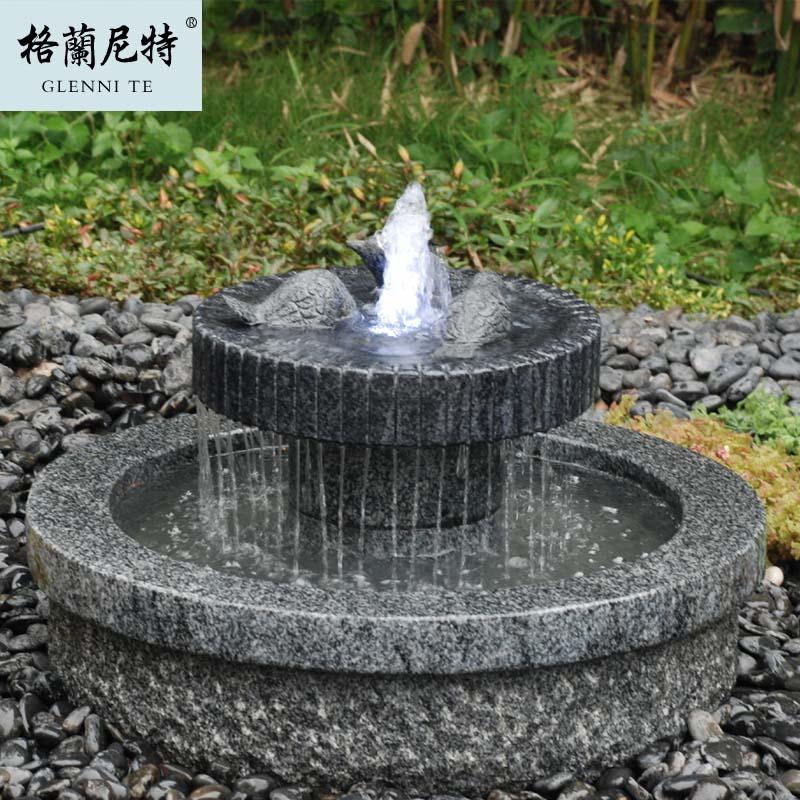 Suelo de piedra fuente de agua escultura de piedra natural paisaje