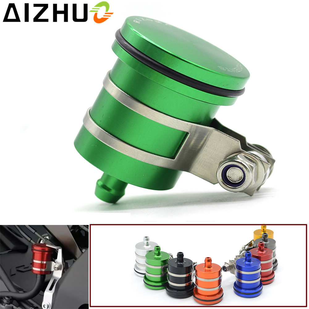 8 Color Motorcycle CNC Aluminum Cylinder Fluid Oil Tank Reservoir Cup For Kawasaki ER6N ER6F Versys 650 1000 Z650 Z750 Z800 Z900 universal motorcycle brake fluid reservoir clutch tank oil fluid cup for kawasaki z1000 z800 z300 zzr1400 versys 650 er 4n er 6n