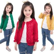 цена new baby girl knitted clothes spring autumn fashion children long-sleeve thin coat jacket онлайн в 2017 году