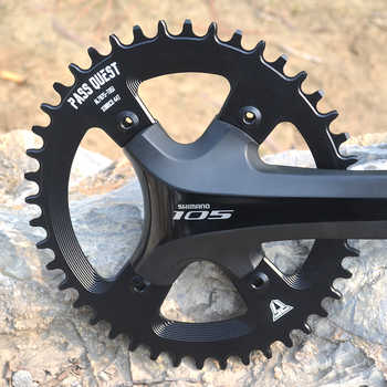 PASS QUEST 110BCD Oval Road Bike Chain ring crankset 42T-52T Narrow Wide Chainring For R2000 R3000 4700 5800 6800 DA9000