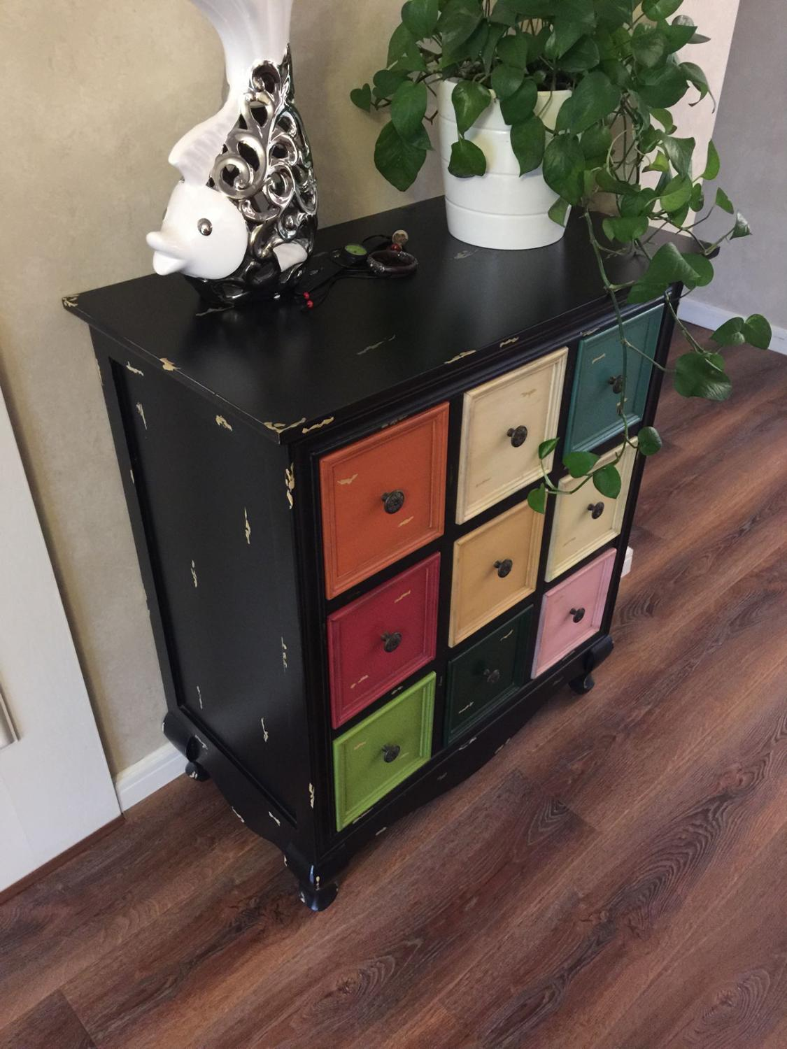 American Country Wood Bucket Cabinet