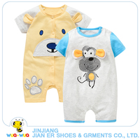 2pcs A Lot Top Quality Newborn Baby Boy Clothes 100 Cotton Baby Animal Style Romper White