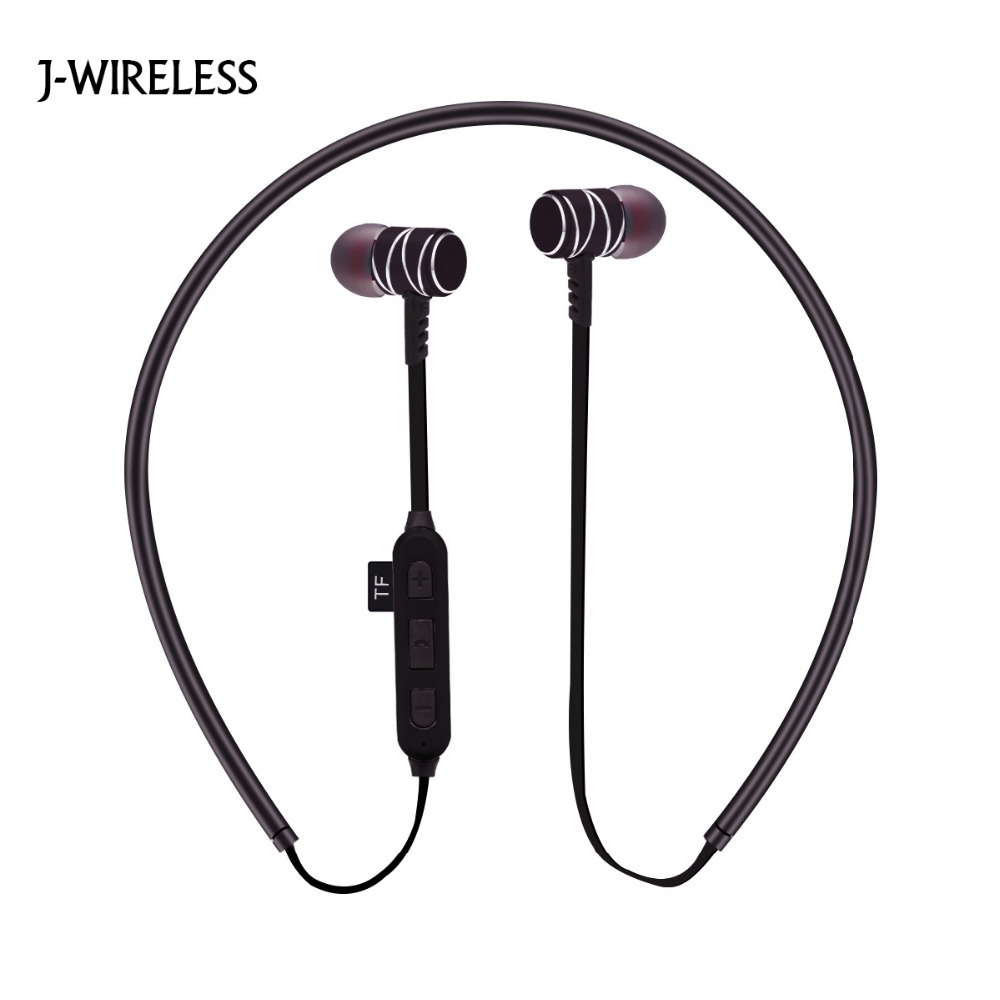 J-WIRELESS Bluetooth headphones Sports Bluetooth Earphone Stereo Wireless Headphones Earpiece for iPhone Xiaomi Samsung Huawei