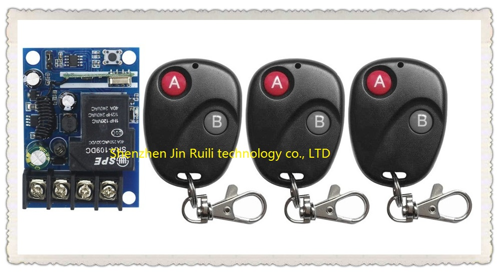 New DC12V 24V 36V 48V 1CH RF Wireless Remote Control Switch System 3pcsTransmitter with Two-button Receiver Smart Home Switch wireless pager system 433 92mhz wireless restaurant table buzzer with monitor and watch receiver 3 display 42 call button