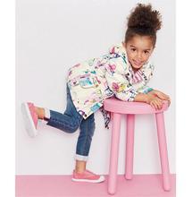 2016 New Spring Cute Baby Girl Coat Print Cartoon Graffiti Hooded Zipper Girl Jacket Full Sleeve Toddler Girl Outerwear