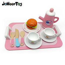 JaheerToy afternoon Tea Toast Group Breakfast Play House Parent-child Interaction Early Education Educational Wooden Toys