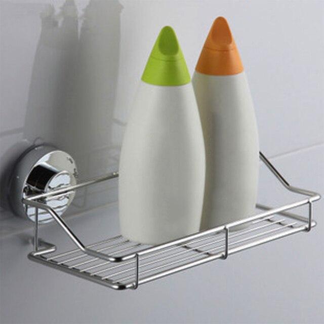 Edelstahl Waschbecken Sucker Organizer Regal Badezimmer Wand Vakuum